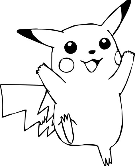 pokemon pikachu coloring pages printable sketch coloring page
