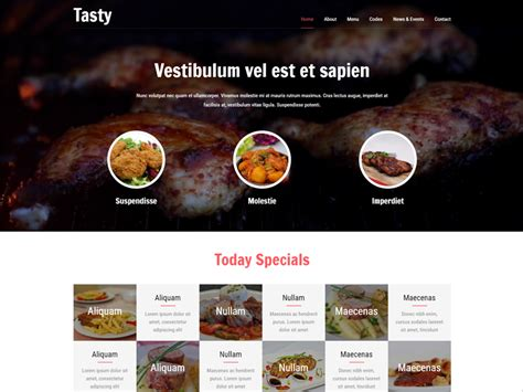 templates bootstrap free restaurant tasty free bootstrap restaurant template freemium download
