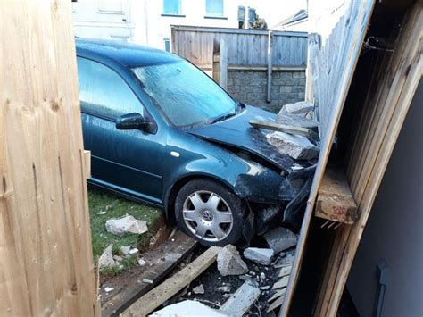 car crashes into living room nearly hits pregnant mom car smashed into living room as couple were watching film