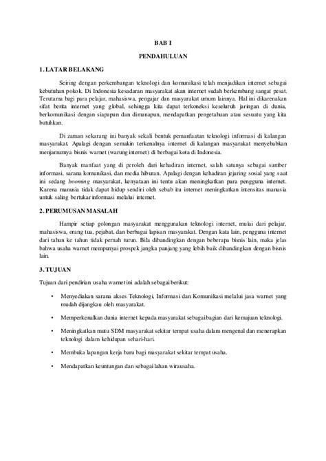 format proposal usaha warnet proposal usaha warnet 1