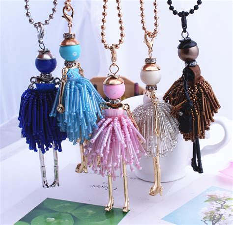 Handmade Fashion Accessories - 2016 fashion jewelry doll necklace pendants charms free