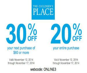 discount vouchers groombridge place the children s place coupon for 20 30 off printable