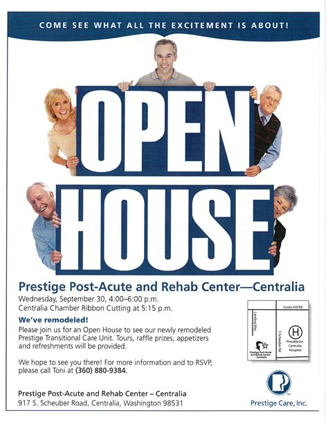 Detox Clinic Chehalis by Prestige Post Acute Rehab Center Open House September