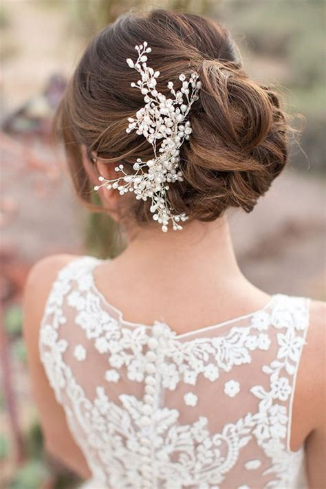 Wedding Hair Updo Pieces by Floral Fancy Bridal Headpieces Hair Accessories 2018 19