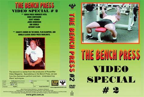 chris confessore bench press the bench press video special 2 of 2 pcb 4304dvd
