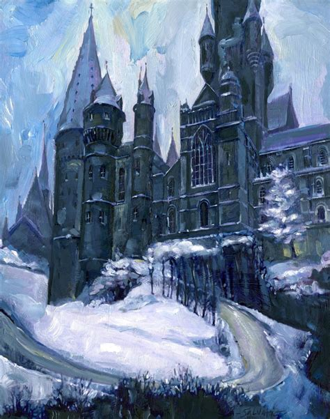 harry potter winter at 1406376086 concept art for hogwarts in winter by jim salvati whispers in the static