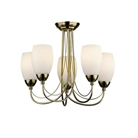 Low Energy Ceiling Light Fittings Dar Lighting 5 Light Low Energy Ceiling Fitting In Antique Brass Finish Dar Lighting