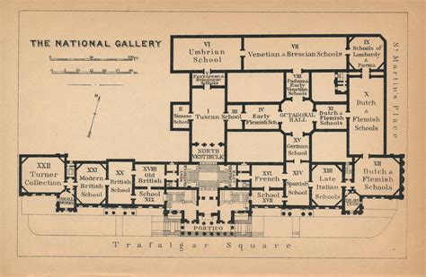 national gallery floor plan 1905 national gallery london antique floor plan