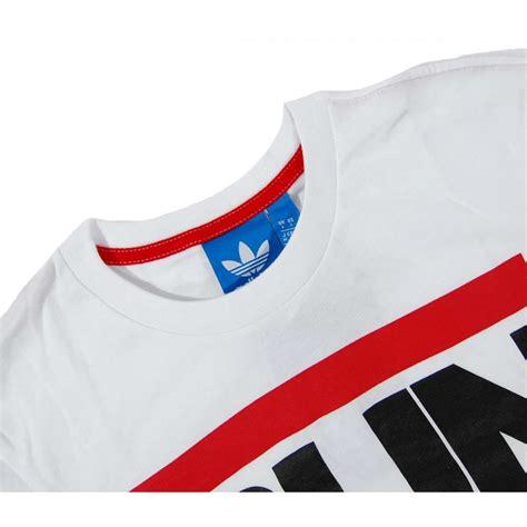 Original Adidas Tshirt Run Bq8380 adidas originals run dmc logo t shirt white mens t shirts from attic clothing uk
