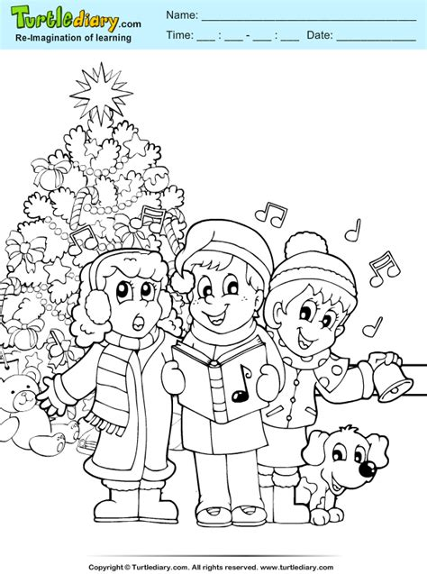 christmas carols coloring pages christmas carol coloring sheet turtle diary