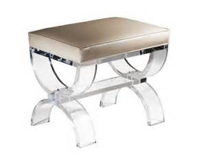White Leather Vanity Stool Umbria Bench Our Acrylic Seating Home