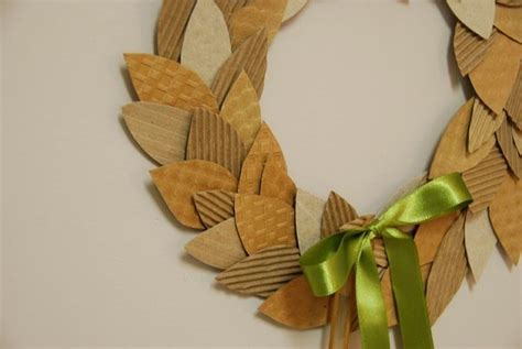 Coffee Cardboard Recycled Wreath · How To Make A Paper Wreath · Papercraft on Cut Out   Keep