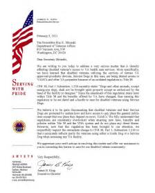 Va Certification Letter American Veteran Online Amvets Calls On Shinseki For Department Wide Service Dog Policy