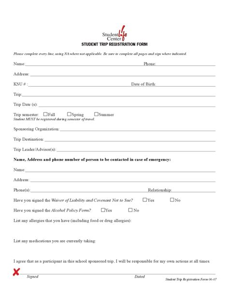 travel registration form 2 free templates in pdf word