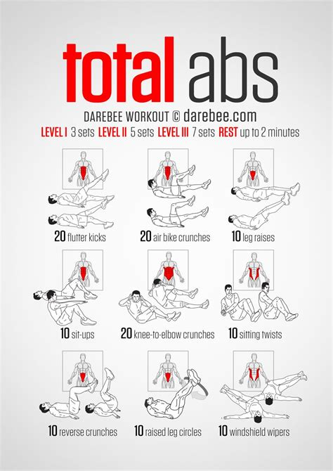 10 free printable workouts to get fit anywhere fitness total ab workout total abs