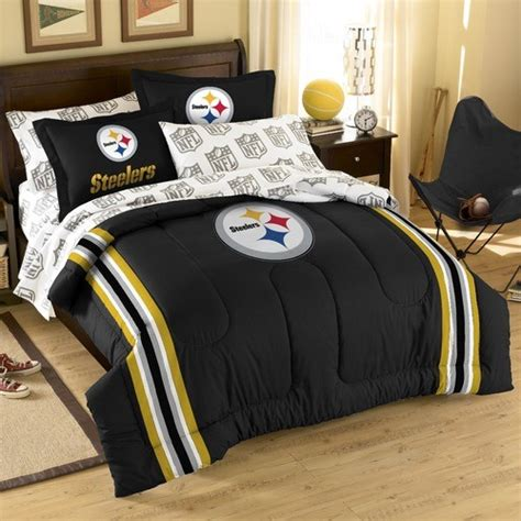 nfl comforter sets nfl pittsburgh steelers embroidered comforter