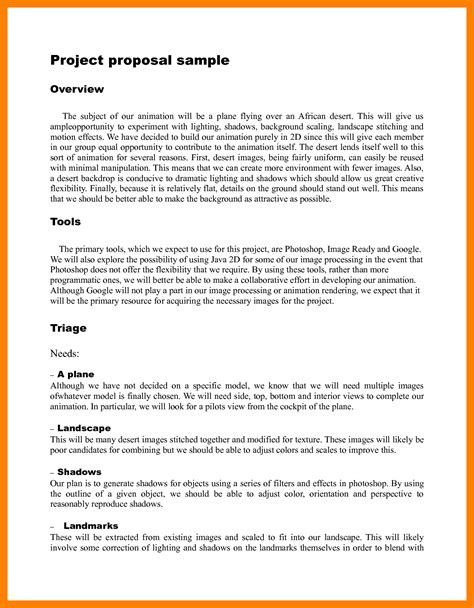 format of proposal writing 8 project proposal exles student resume template