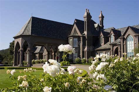 large victorian mansion  nap stock photo image