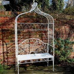Pergola Metal by Metal Ivory Garden Pergola Bench Seat With Flower Canopy