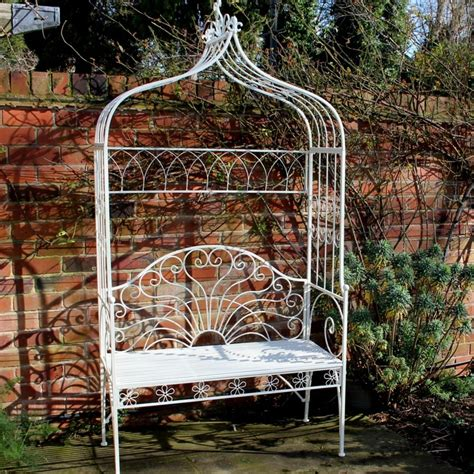 metal garden arbor with bench metal ivory garden pergola bench seat with flower canopy