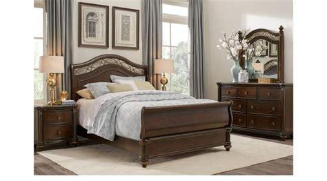 sale regal traditional 5 pc cherry sleigh bedroom set laurel greenish gray view cherry 7 pc queen sleigh
