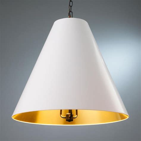 Paper Pendant Shade Oversized Cone Paper Shade Pendant Island Lighting Kitchens And Islands