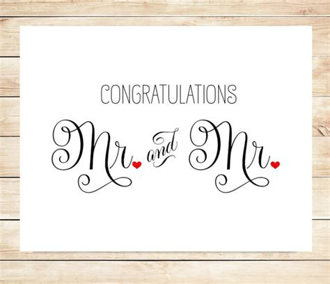 congratulations on your wedding card template printable mr and mr wedding card marriage wedding card