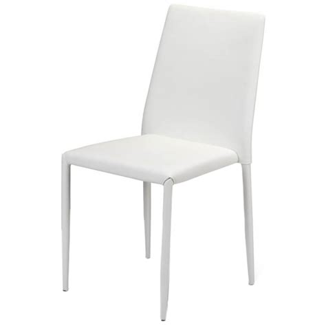 White Stackable Chairs by Jazz White Stackable Dining Chairs Dining Room Furniture