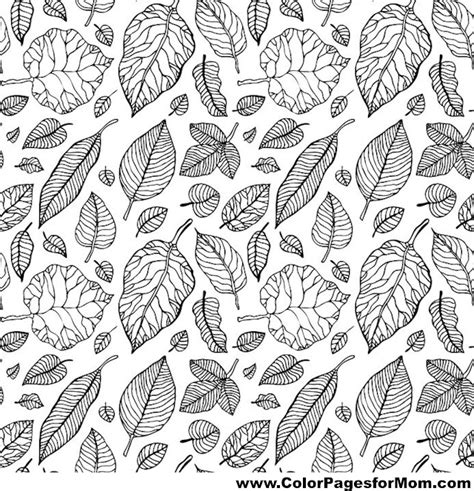 leaves coloring pages for adults advanced leaves coloring page 14