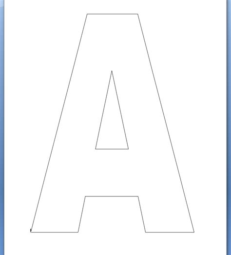 printable uppercase letters free uppercase letter a