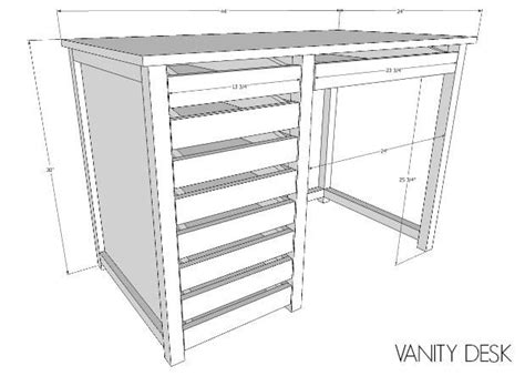 Woodworking Plans Vanity Desk