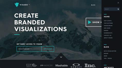 website top bar design 30 web designs featuring pop out navigation menus