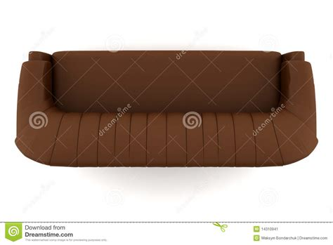 sofa birds eye view top view of brown leather sofa isolated on white stock