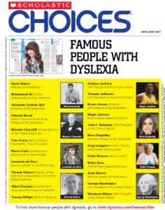 famous dyslexia scholastic choices scholastic