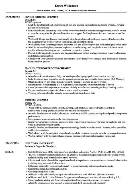 Sle Resume Entry Level Chemist entry level chemist resume sle warehouse assistant