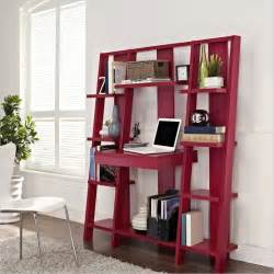 Office Desk With Bookshelf Altra Furniture Ladder Bookcase With Desk In Finish
