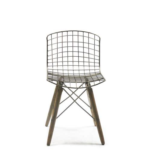 chaise design bois chaise design fil de fer et pieds en bois wadiga com