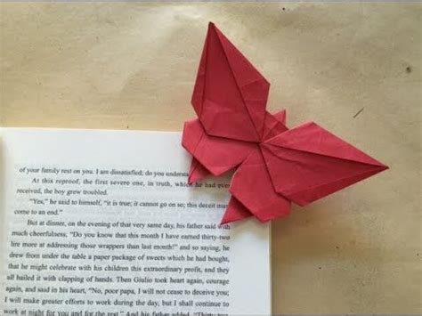 Butterfly Bookmark Origami - origami butterfly bookmark crafts origami quiling hair