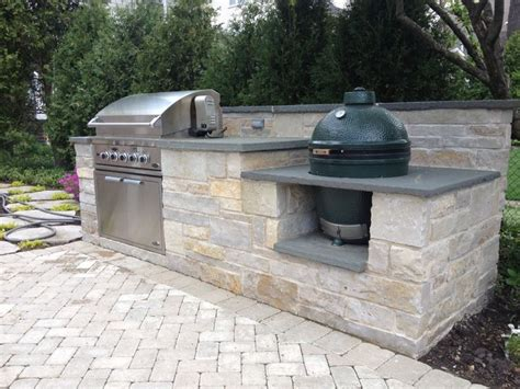 - Outdoor Kitchen With Green Egg