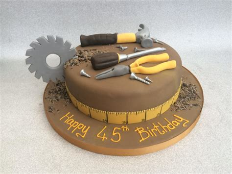 Purple Cake Decorating Ideas Workmans Tool Cake Cake Creations