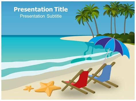 beach boy powerpoint templates powerpoint presentation