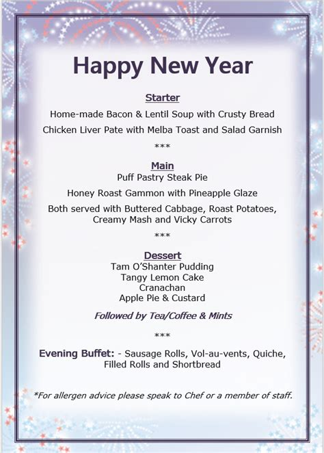 new year menu bc new years day camilla house care home auchtertool