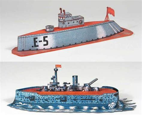 Papercraft Submarine - simple submarine and warship free paper models