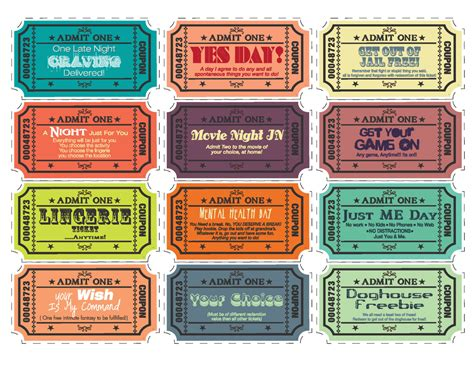 coupon book template for boyfriend printable coupons for husband by tvlbdesigns on etsy