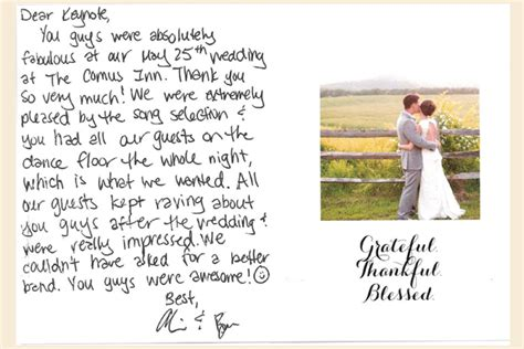 Client Testimonial   A Love Note to Keynote Wedding Band