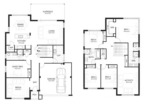 Floor Plan 2 Story House by 2 Storey House Designs And Floor Plans Search
