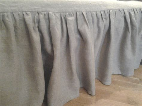 linen bed skirts linen bed skirt grey gray twin eco