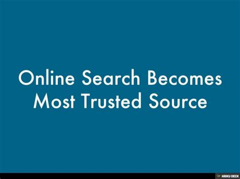 Trusted Search Search Becomes Most Trusted Source