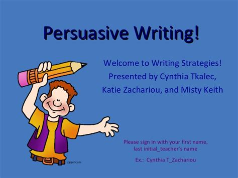 Writing An Argumentative Essay Powerpoint by 5th Grade Writing Strategies Class Persuasive Writing