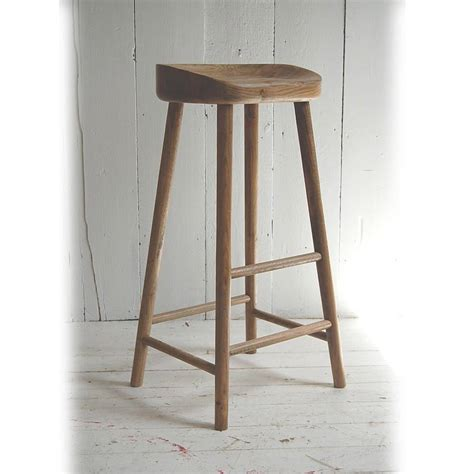 Bar Stools For Kitchen Island by Weathered Oak Bar Stool By Eastburn Country Furniture